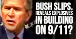 Bush talks about EXPLOSIVES in building (on 9/11?)