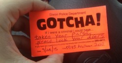 "Police Enter Unlocked Vehicles to Remind You to Lock Up Under New ""Gotcha!"" Program"