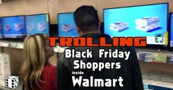 Trolling Black Friday Shoppers Inside Walmart – 2015 –  MARK DICE 