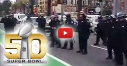 Super Bowl Takes Priority Over Humans As Riot Police 'Sweep Away' the Homeless Before Big Game