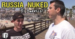 Russia NUKED by America!!!  – Citizens React to this Earth-Shattering News