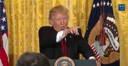 Trump Toys with Reporters at Press Conference Today