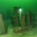 Stonehenge Discovered Under Lake Michigan with Carvings of Mastodon