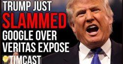 Trump Slams Google As Veritas Censorship Controversy Escalates